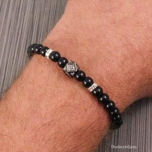 Other - Natural Black Tourmaline Bracelet